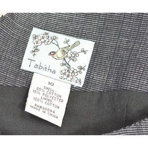 Tabitha Dresses - Tabitha dress 10 gray small checks applique embroi